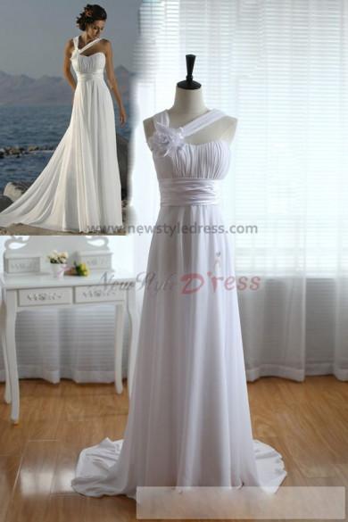 Summer Empire Chiffon Beach Cheap Glamorous Wedding Dress nw-0279