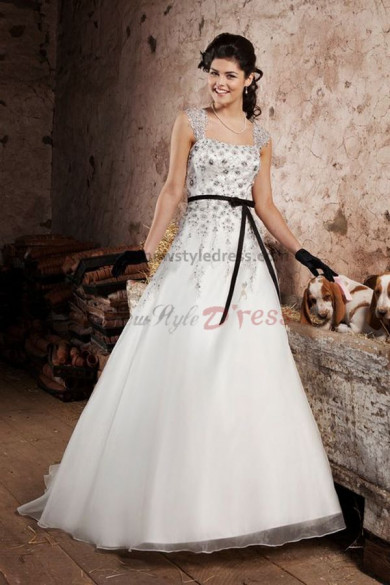 Tank Chest Appliques Strapless a line Hot Sale Spring wedding dress nw-0260