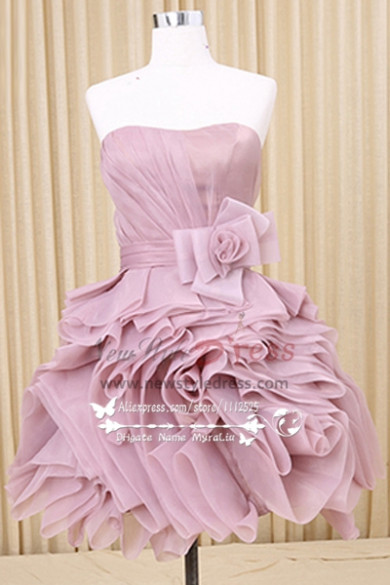 Beautiful Homecoming dress Ruched short prom dresses with big bow belt