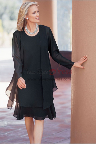 Black Chiffon dress outfit for special occasion nmo-463