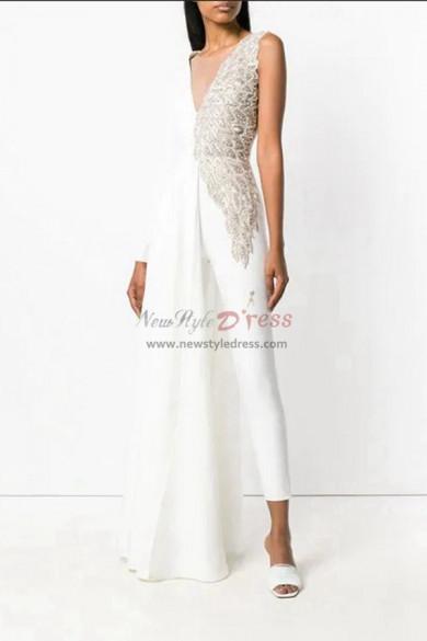 Bridal Jumpsuit V-neck Angel  Asymmetry Wedding dresses wps-138