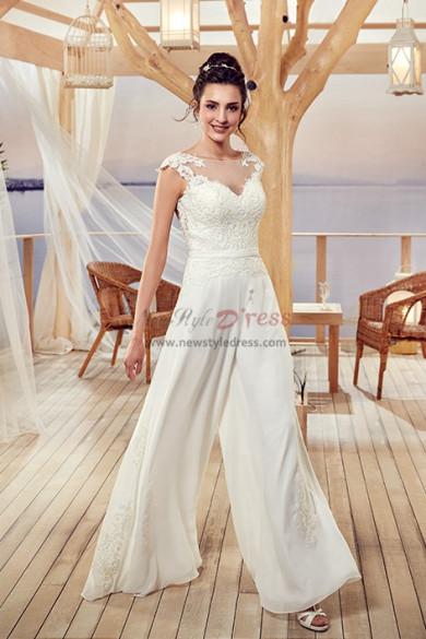 Bridal Jumpsuits Wedding gowns Culottes Wide leg pants wps-122