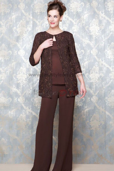 caffe Latest Fashion Three Piece mother of the bride dress pants sets nmo-095