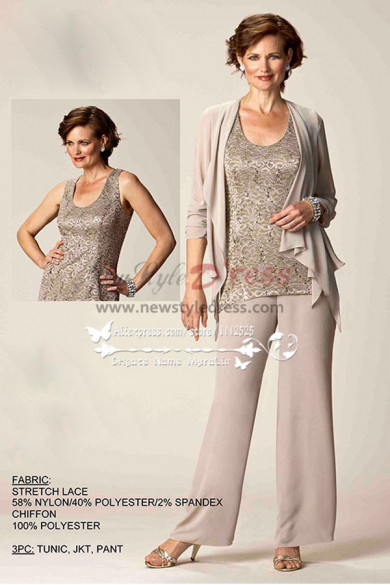 Champagne Elegant mother of the bride pant suit nmo-156