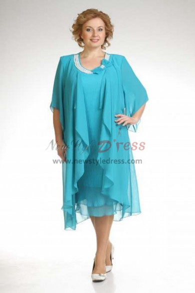 Hot Sale Light Blue lovely Mother Of The Bride Dresses nmo-376