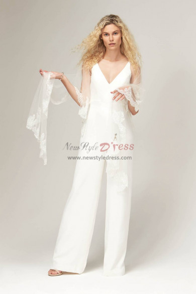 New style Bridal Jumpsuit for Beach wedding wps-154