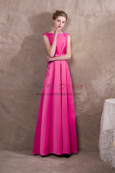 Rose Red Beaded Satin Prom Jumpsuits Wite leg New style NP-0406