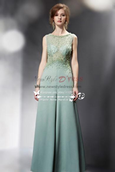 Sexy Green chiffon wedding Jumpsuit with hand beading nmo-238