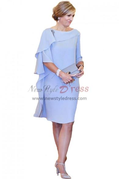 Sky Blue Chiffon Popular Mother Of The Bride Dresses nmo-351