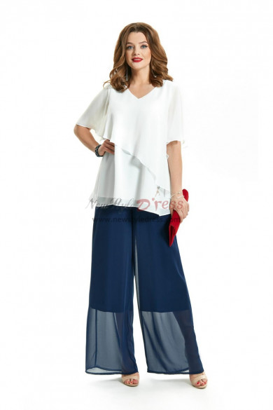 Summer Comfortable Chiffon Mother of the Bride Pant Suits nmo-717-3