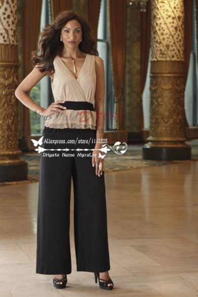 Summer two piece mother of the bride pant suits nmo-177