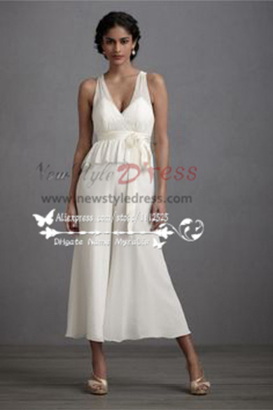 Wedding dresses culottes  Jumpsuit Tea-Length pants wps-007