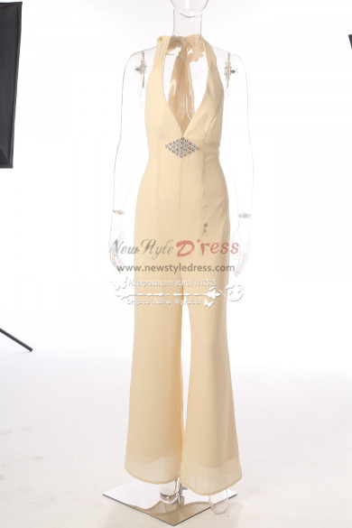 Wedding jumpsuits Chiffon Trousers dress Deep V-neck New style