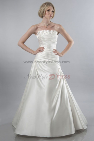 2019 New Style Strapless A-Line Elegant wedding dress nw-0289