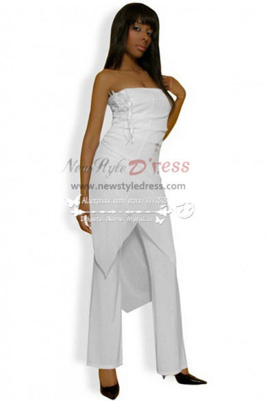Wedding pant suit yellow chiffon jumpsuit pantaloni nmo-233