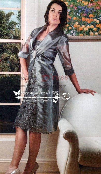 Charcoal Dressy Mother of the bride dress outfits cms-081