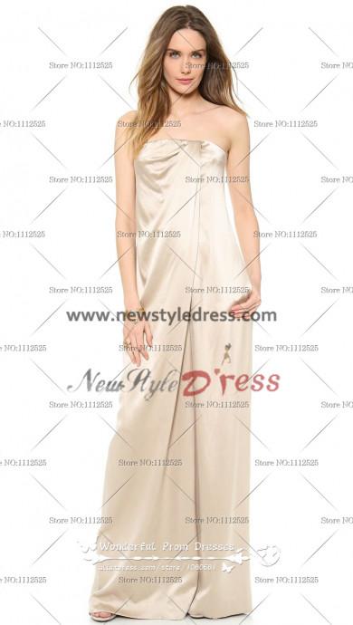 Champagne Charmeuse Strapless Glamorous Elegant Jumpsuits wps-047