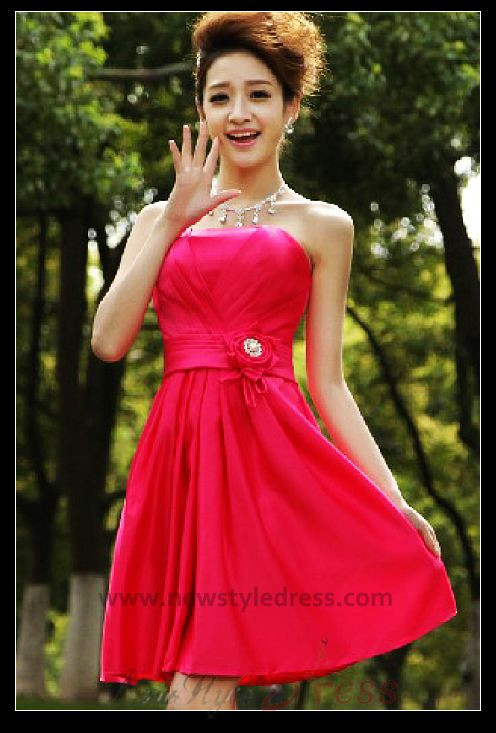 2019 Latest Fashion red Gorgeous Sexy Strapless short dress nm-0278