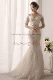 New Arrival Off the Shoulder Hand Beading Trumpet Cheap wedding gowns nw-0163