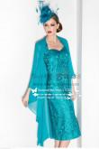 2019 Fashion Light Blue Elegant mother of the bride dress cms-068