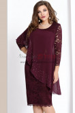 2019 Dressy Plus Size Burgundy Lace Mother Of The Bride Dresses with Crystal nmo-367