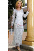 2019 Fashion Gray Sleeve length Mother of the bride dresses nmo-342