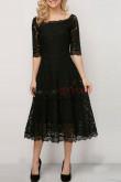 2019 Spring Dressy Black Mid-Calf Dresses  nmo-359