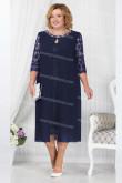 2021 Navy Blue Mother Of The Bride Dress, Mid-Calf  Plus Size Women's Dresses nmo-723