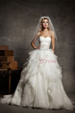 20 Inch Train Ruched Sweetheart Crystal Belt Sexy High-end wedding dress nw-0140