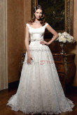 Off-the-shoulder a-line Waist With Glass Drill lace Best Sale wedding dresses nw-0209