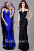 Cheap Royal Blue V-neck Glass Drill Neckline Best Sale evening gown np-0361