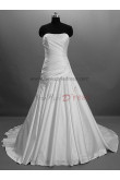 Chest Appliques Draped Chest with beading Chapel Train Princess Strapless Satin Elegant Luxurious Wedding dresses nw-0036