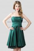Dark Green Strapless Knee-Length Bridesmaids Dresses nm-0226