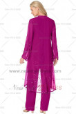 Fuchsia Sequins Latest Fashion Loose Elastic pants Mother of the bride outfit nmo-116