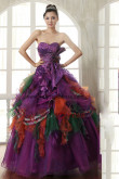 Grape More Tiered more puffy Gorgeous Quinceanera Dresses nq-019