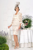 Ivory lace Knee-Length cheap Elegant Modern mother's Dress cms-051