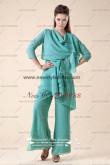 Lake Blue Cowl Neck Glamorous Loose Latest Fashion Women's outfit nmo-126
