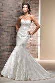 Brush Train Mermaid lace Appliques Glamorous Spring High-end wedding dresses nw-0193