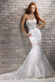Mermaid lace Sheath Sweep Train Classic Elegant wedding dresses with Wraps nw-0192