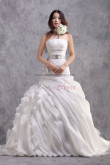 Multilayer Ruched flower ball gown Wedding Dresses with Glass Drill Belt nw-0201