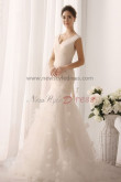 New Arrival V-neck Mermaid flower Multilayer Pleat Elegant Wedding gown nw-0157