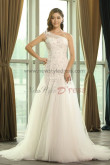 One Shoulder Lace Appliques Princess Spring Wedding Dresses Under $200 nw-0162