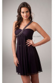 Sexy Above Knee One Shoulder purple Cocktail dresses under 100 nm-0194