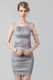 Silver Portait Sheath Above Knee Sexy short prom dress nm-0212