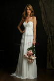 Sweetheart Chiffon Glamorous Beach Wedding Dress nw-0299
