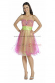 Pearl Pink Sweetheart Ruched Hand beading Gorgeous Homecoming Dresses nm-0202