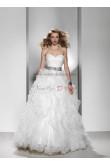 Sweetheart Sweep Train Ruffles Simple silver gray Sashes wedding dress nw-0123