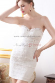 Sweetheart Sheath Sexy hip package Beading White/red Appliques Cocktail Dresses nm-0263