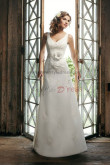 Tank a line Waist With a flower Glamorous wedding dress nw-0247