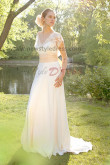 V-neck Classic Simple Beach wedding dress Sashes With lace nw-0250